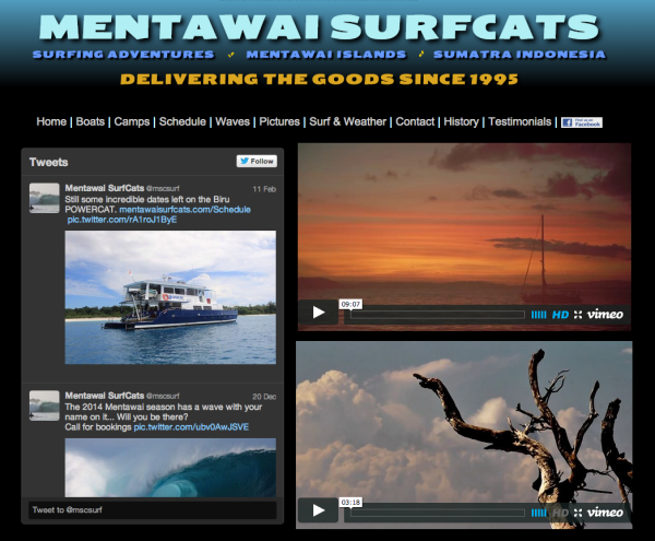 Mentawai SurfCats - Developed & Hosted by ActivLab