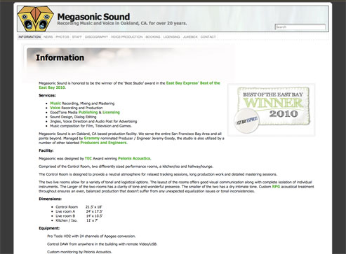 Megasonic Sound - Developed & Hosted by ActivLab