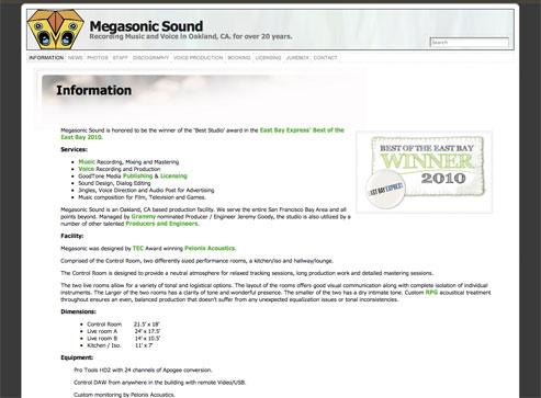 Megasonic Sound - Developed & Hosted by ActivLab